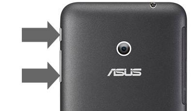ASUS Fonepad Note 6 (ME560)のスクリーンショット保存