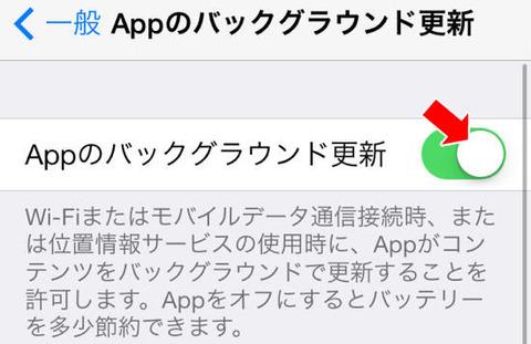 iPhone5s&iPhone5c アプリのバックグラウンド更新をオフにする方法