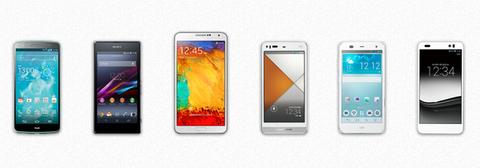 au 2013年冬モデルスマートフォンの性能比較