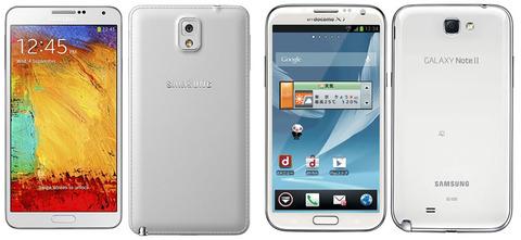 ギャラクシーノート3 SC-01Fの暫定スペック&Galaxy Note2 SC-02Eの比較