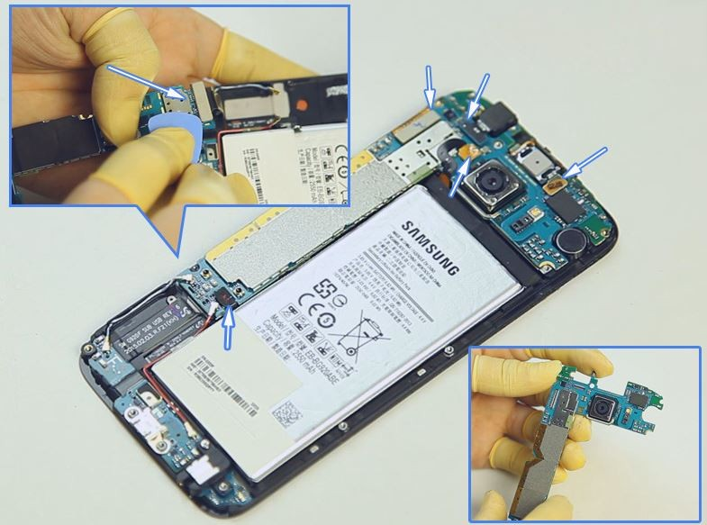 GALAXY S6分解レポート「薄さの秘密&自力バッテリー交換の可能性は?」  ドコモ スマートフォンおすすめ情報局