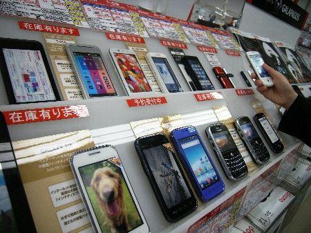 スマートフォン売り場