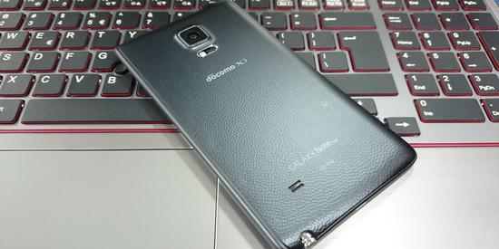 ドコモ版のGALAXY Note Edge SC-01G(ブラック)