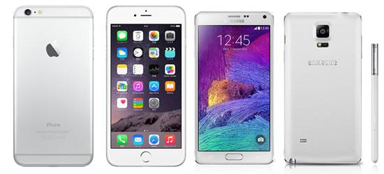 「iPhone6 Plus vs GALAXY Note4」最新ファブレット比較