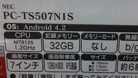 LaVie Tab S(TS507 N1S)のカメラ撮影写真3
