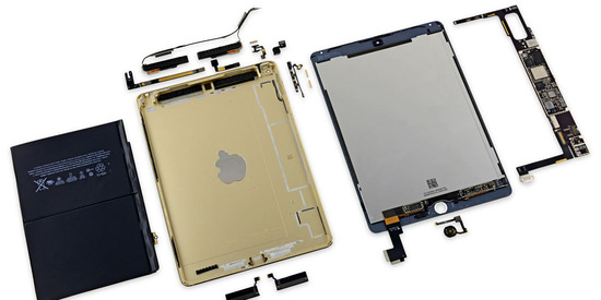 iPad AIR2分解レビュー(RAM 2GB&7340mAhバッテリー)