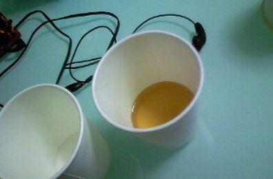 オフィスにあるような給茶器があって好きにお茶が飲める