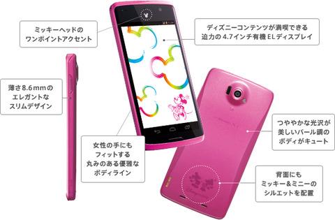 ディズニーモバイル N-03E 日本語入力不具合の修正&OSアップデート
