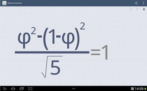 高性能な手書き電卓アプリ「MyScript Calculator」~勉強・仕事や関数電卓の代用に~
