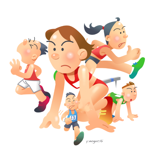 スポーツ オリンピック 陸上競技 イラスト : nonちゃんイラスト ...