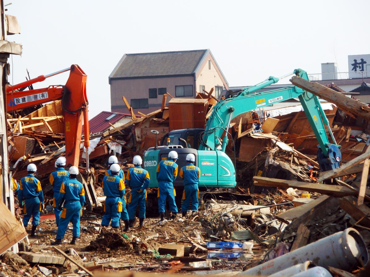 宮城県内の津波被害4(捜索状況)