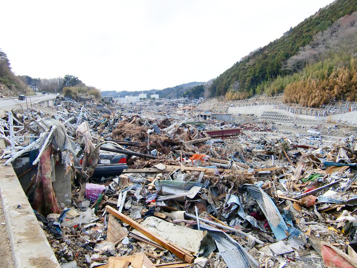 東日本大震災(女川町の被害1)