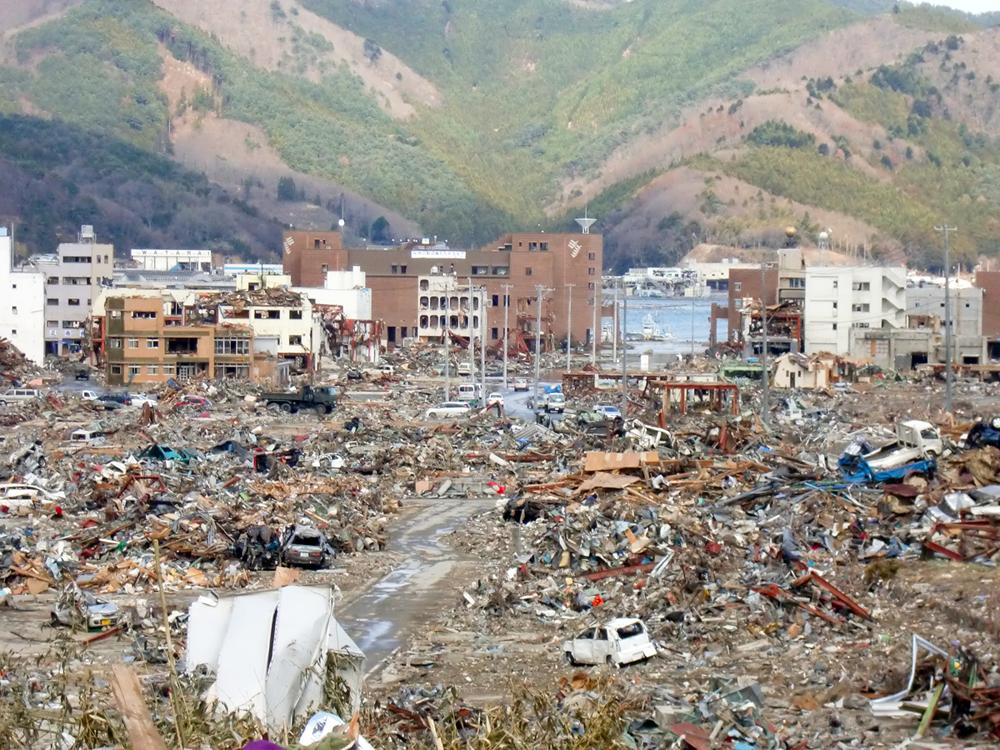 宮城県内の津波被害
