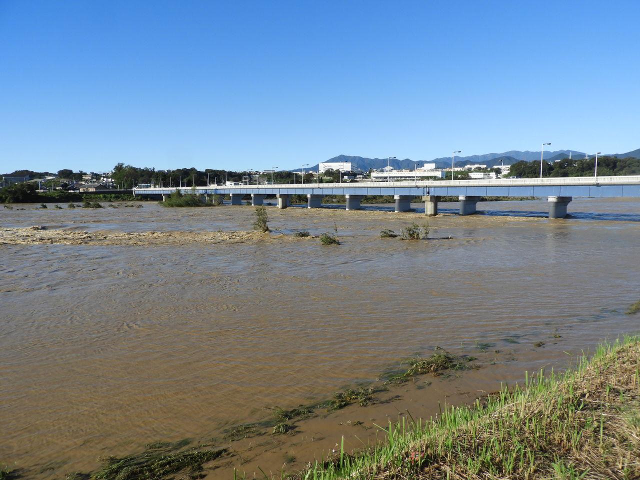 台風19号相模川2
