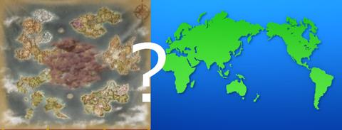 世界地図比較