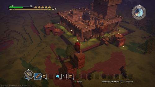 ワイ、ドラクエビルダーズ体験版で城を造る
