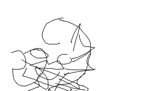 目を瞑ってドラクエのモンスター描いたから当ててみて