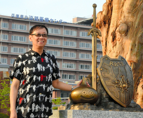 淡路島にスライム出現 ドラクエ生みの親の故郷に銅像