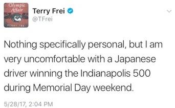 【インディ500】 米記者「メモリアルデーに日本人が優勝しやがった。実に不愉快だ!」→即解雇