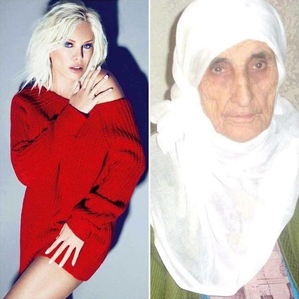 """【画像】""""世界で最も若く見える71歳の女性"""" が元クラスメート(71)と並んだ結果"""
