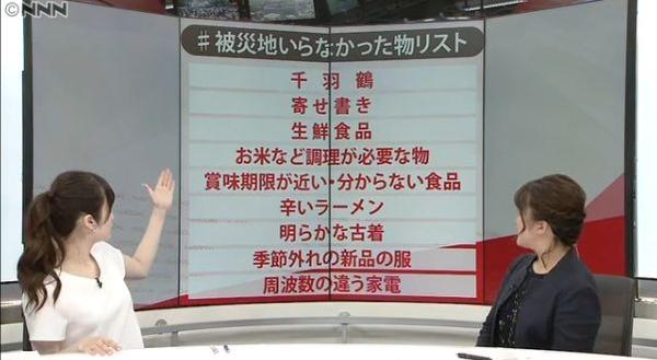 被災地いらなかった物リスト発表 「千羽鶴」「寄せ書き」「辛いラーメン」他
