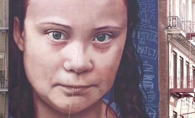 Massive-mural-of-Greta-Thunberg