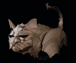 【画像】 猫用の鎧(14万円~)がかっこ良すぎると話題に