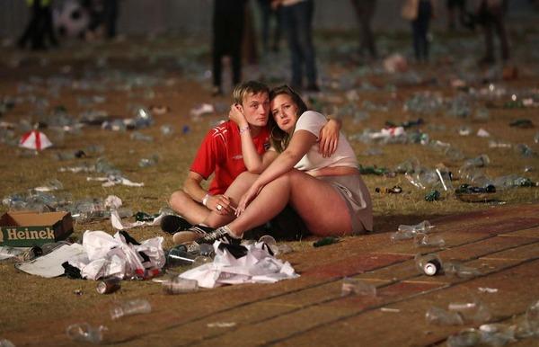 【画像】 イングランドがクロアチアに破れた直後のロンドンの様子をご覧ください