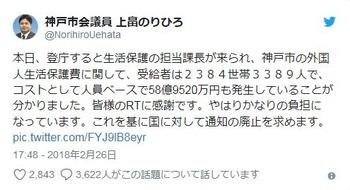 神戸市だけで年間59億円…非公表だった「外国人世帯に生活保護費がいくらかかってるか」市議が調査