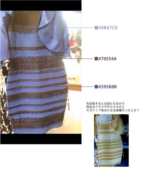 d0aadebaba320 痛いニュース(ノ∀`)    画像  このドレス、「青と黒」もしくは「白と金 ...