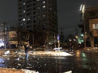 【画像】 札幌の飲食店で爆発 建物が跡形もなく消し飛ぶ