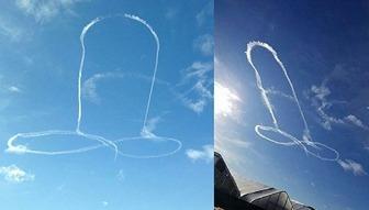 【画像】 F18パイロット、空に巨大な男性器を描いて処分される