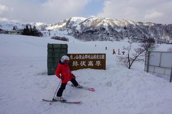 家族でハチ高原スキー