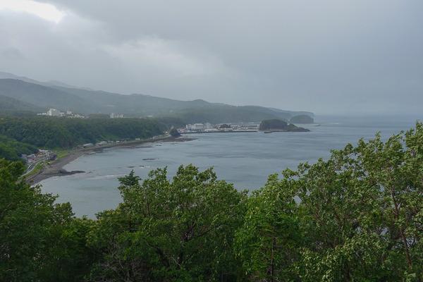 嵐の知床半島