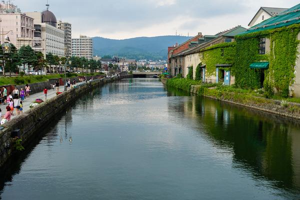 黄昏の小樽運河2