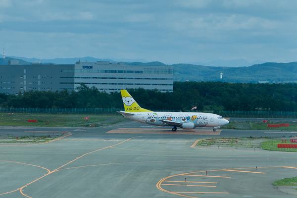 新千歳空港での飛行機撮影