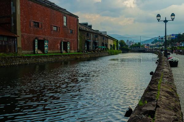 黄昏の小樽運河