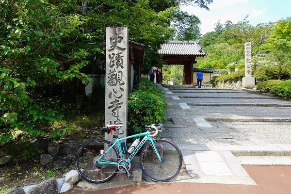 ロードバイクのタイヤ交換 ~梅雨の晴れ間に観心寺