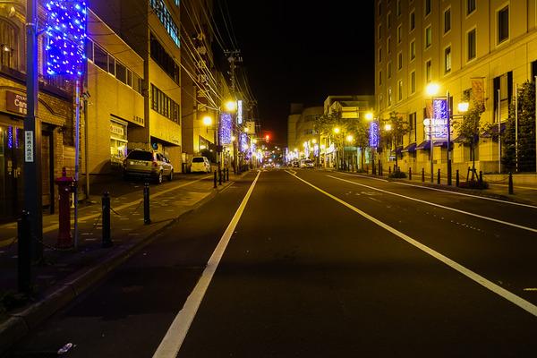 夜の北のウォール街