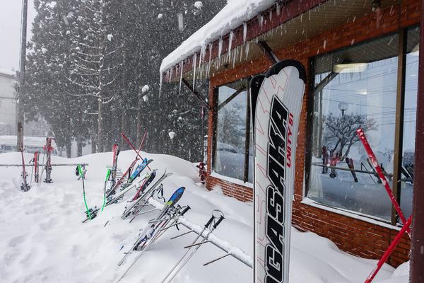 ハチ高原でスキー合宿