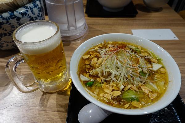 にんにく味噌ラーメン&生ビール