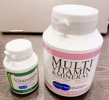 マルチビタミン&ミネラル女性用とビタミンD