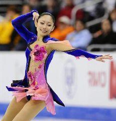 世界選手権女子SPで4位の安藤美姫=ロサンゼルス