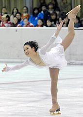 大会3連覇を果たした中野友加里=宇都宮市スケートセンター