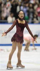 女子フリーで完璧な演技で優勝した浅田真央=東京・代々木体育館