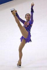スケートアメリカSPで演技する安藤美姫