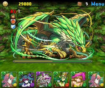 パズドラ 緑の契約龍