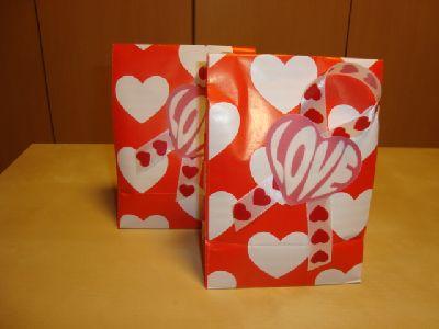 バレンタイン公文、習字の先生用