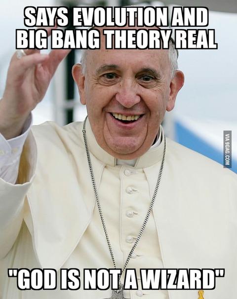 ローマ教皇「ビッグバンも進化論も、神の教えと矛盾しない」海外の反応