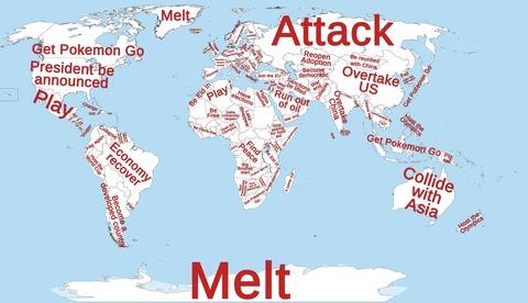 「『いつ(国名)は~~するのか』でググった結果をまとめたマップが話題に」海外の反応